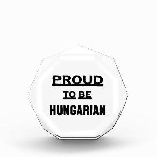 Proud to be Hungarian Acrylic Award