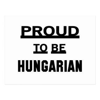 Proud to be Hungarian Postcard