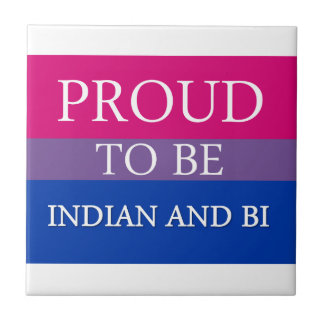 Proud To Be Indian and Bi Small Square Tile