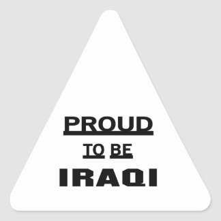 Proud to be Iraqi Triangle Sticker