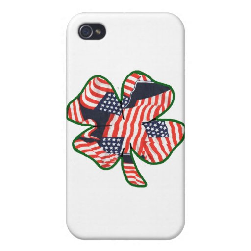 Proud to be Irish American Shamrock Cover For iPhone 4
