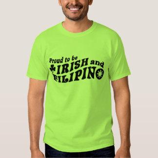 Proud to be Irish and Filipino Tee Shirt