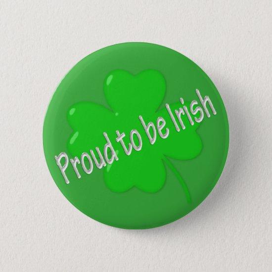 Proud To Be Irish Button