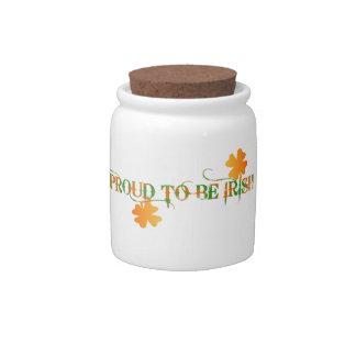 Proud To Be Irish Candy Jar