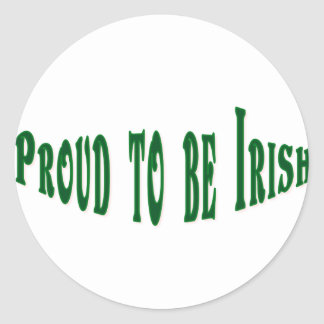 Proud to be irish classic round sticker