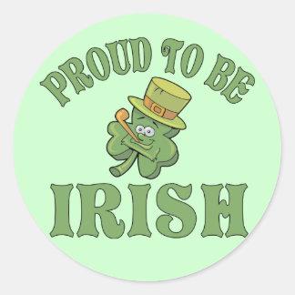 Proud To Be Irish Classic Round Sticker
