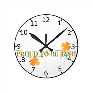 Proud To Be Irish clock