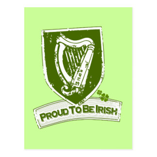 Proud To Be Irish (Harp Grn) Postcard