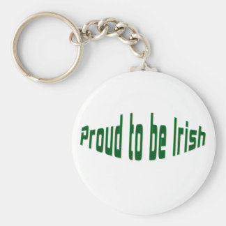 Proud to be irish keychain