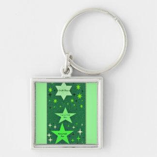 Proud to be Irish rising star green keychain