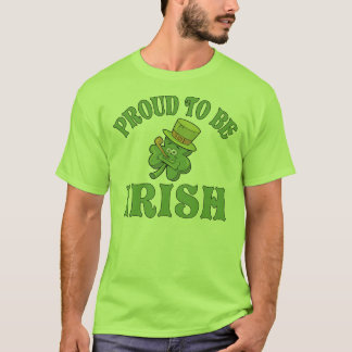 Proud To Be Irish Shamrock T Shirt