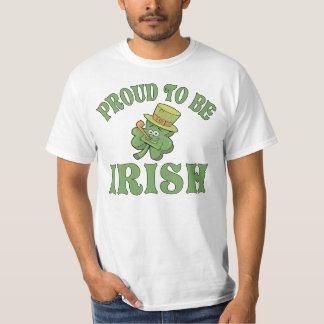 Proud To Be Irish Shamrock Tshirt