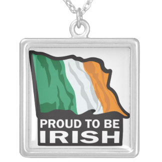 Proud to be Irish/St. Patrick's Day Silver Plated Necklace