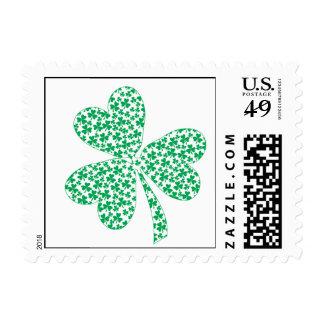 Proud To Be Irish - St Pattys Shamrock Postage Stamp