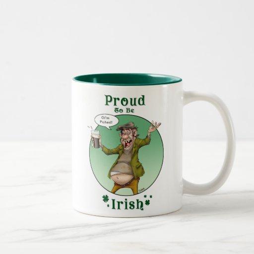 Proud to be Irish Two-Tone Coffee Mug