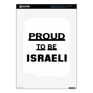 Proud to be Israeli Decal For iPad 3
