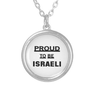 Proud to be Israeli Silver Plated Necklace