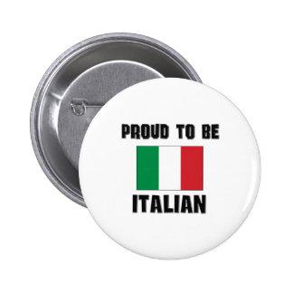 Proud To Be ITALIAN Pinback Button