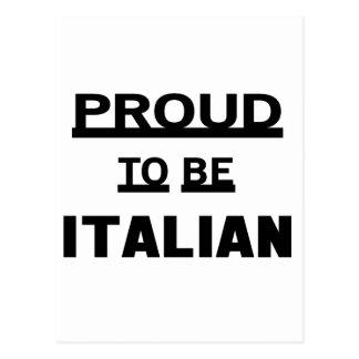Proud to be Italian Postcard