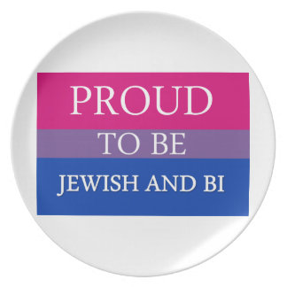 Proud To Be Jewish and Bi Dinner Plate