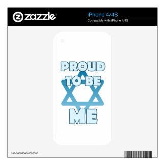 Proud To Be Jewish iPhone 4S Decal