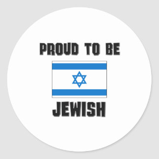 Proud To Be JEWISH Round Stickers
