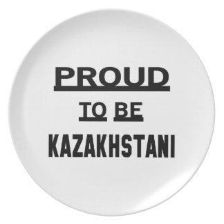 Proud to be Kazakhstani Dinner Plate