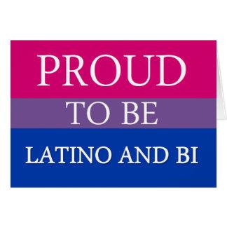 Proud To Be Latino and Bi Card