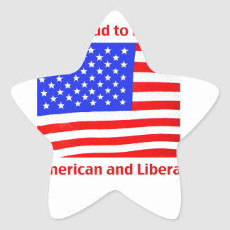 Proud to be Liberal Star Sticker