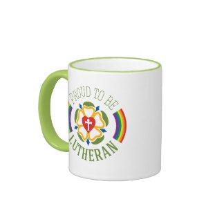 Proud to be Lutheran Mug - Lime Inside