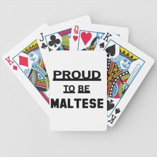Proud to be Maltese Bicycle Playing Cards