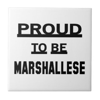 Proud to be Marshallese Tile