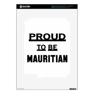 Proud to be Mauritian iPad 3 Decal