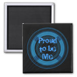 Proud to be me cute blue and black punk magnet refrigerator magnet