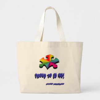 Proud to be me large tote bag