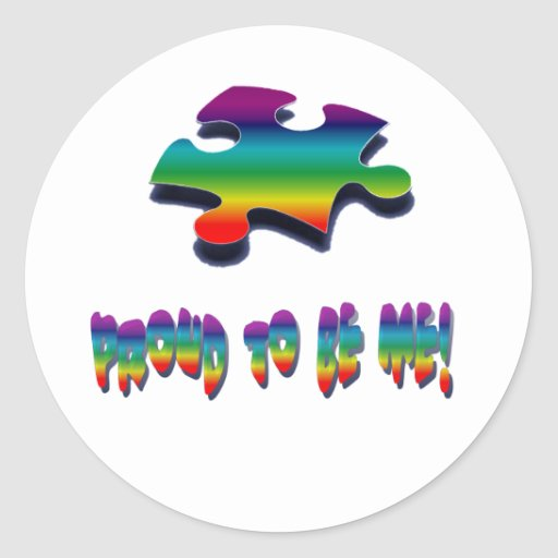 Proud to be me! sticker