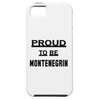 Proud to be Montenegrin iPhone SE/5/5s Case