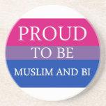 Proud To Be Muslim and Bi Beverage Coaster