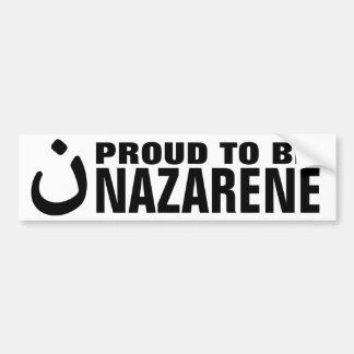 Proud To Be Nazarene Christian Solidarity Bumper Sticker