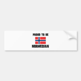 Proud To Be NORWEGIAN Bumper Sticker