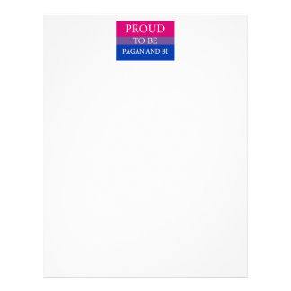 Proud To Be Pagan and Bi Letterhead