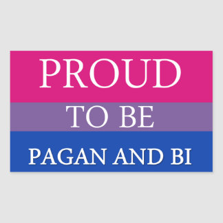 Proud To Be Pagan and Bi Stickers