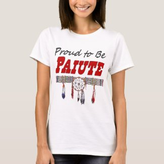 Proud To Be Paiute Ladies Fitted T-Shirt