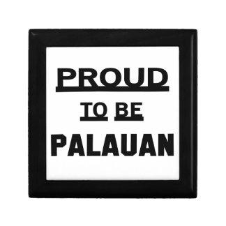 Proud to be Palauan Keepsake Box