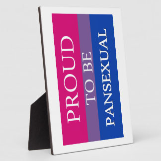 Proud to Be Pansexual Display Plaques