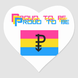 Proud to be Pansexual Heart Sticker