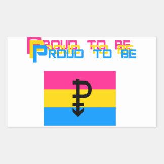 Proud to be Pansexual Rectangular Sticker