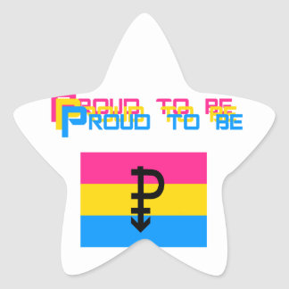 Proud to be Pansexual Star Sticker