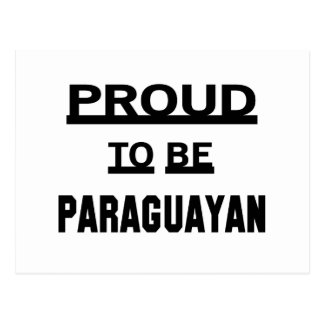 Proud to be Paraguayan Postcard