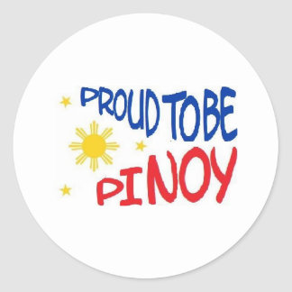 Proud to be Pinoy Classic Round Sticker